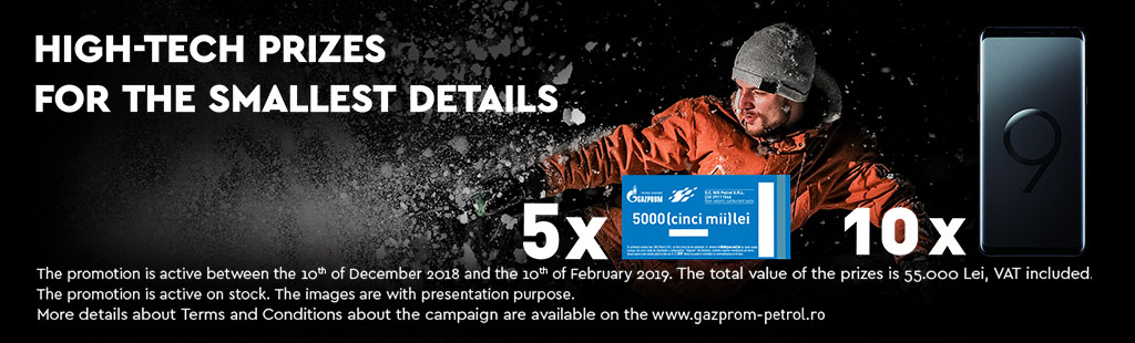 With gazprom, you have high-tech prizes for the smallest detail!