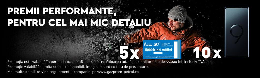 Cu gazprom, ai premii performante, pentru cel mai mic detaliu!