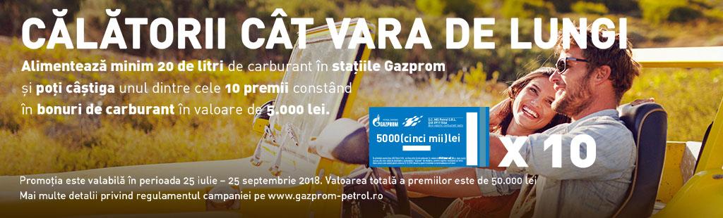 Gazprom promotie vouchere 2018